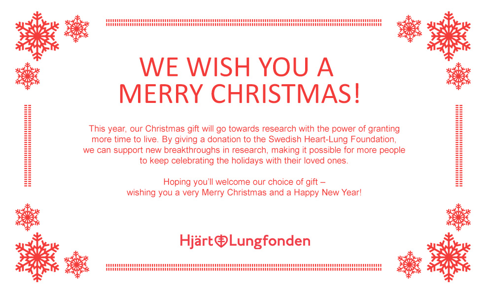 Elvaco's Christmas gift goes to the Swedish Heart-Lung Foundation