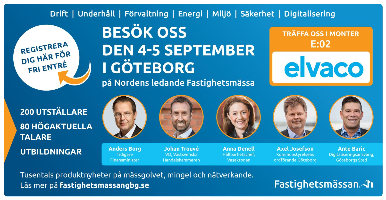 Elvaco is exhibiting at Fastighetsmässan in Gothenburg on September 4-5