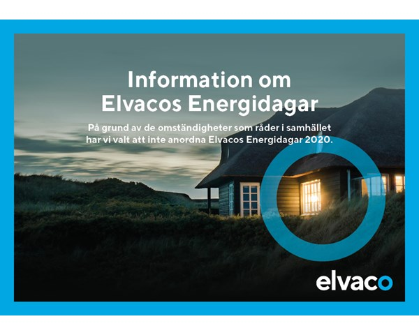 Information about the event Elvaco's Energy days