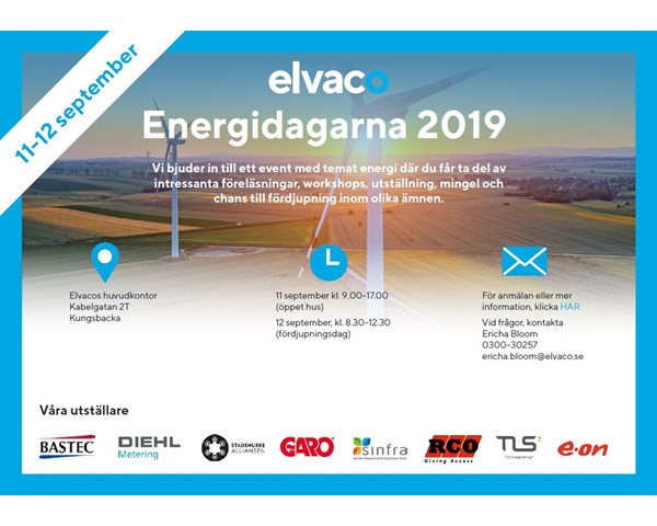 Elvaco's Energy days, September 11-12